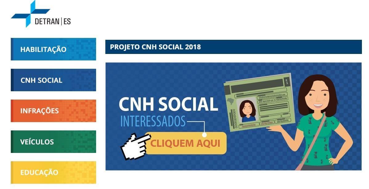 Inscrição CNH Social ES