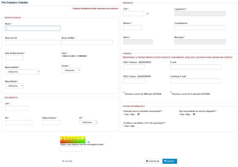 Preencha o formulário com suas informações pessoais